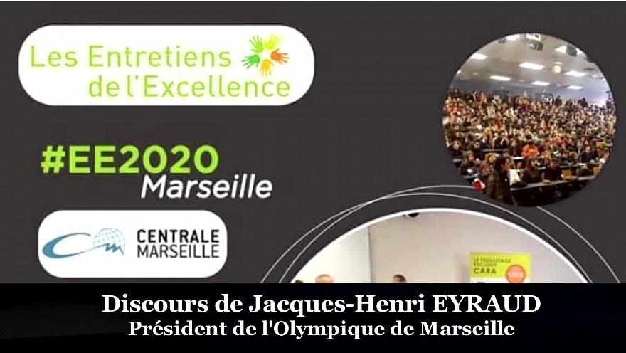 Jacques-Henri Eyraud Président de l'Olympique de Marseille parrain 2020 des Entretiens de l'Excellence s'adressait aux 300 jeunes présents à cette édition 2020 à Marseille @jheyraud @ChenvaTieu @OM_Officiel @Les_EE @MichaGUERIN